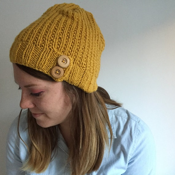 womens hat mens hat womens knit hat button hat