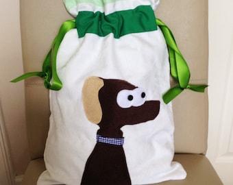 PE Bag, School Bag, School PE Bag, Nursery Bag, Dog Applique Bag, Gym Bag, Shoe Bag, Kids Gym Bag, Dog Drawstring Bag, Dog Drawstring Pouch