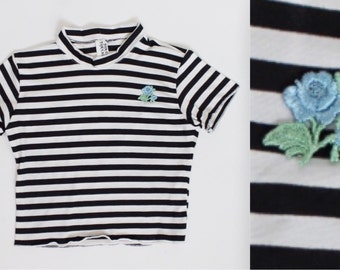 Baby Blue Rose Jailbait Crop Top 90s Inspired Made Order