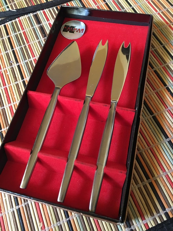 Mid Century Modern, Kalmar Designs NIB Bar Serving Knives for Cheese & More