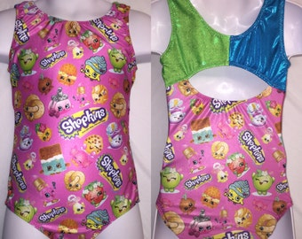 Girls gymnastics leotard - shopkins leotard