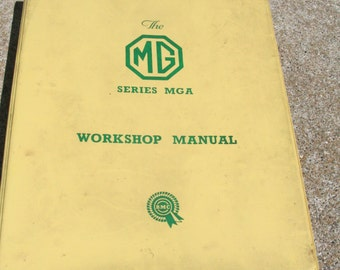 Vintage MGA workshop Service Manual AKD600B