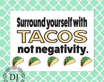 Postitive Affirmations Taco Card