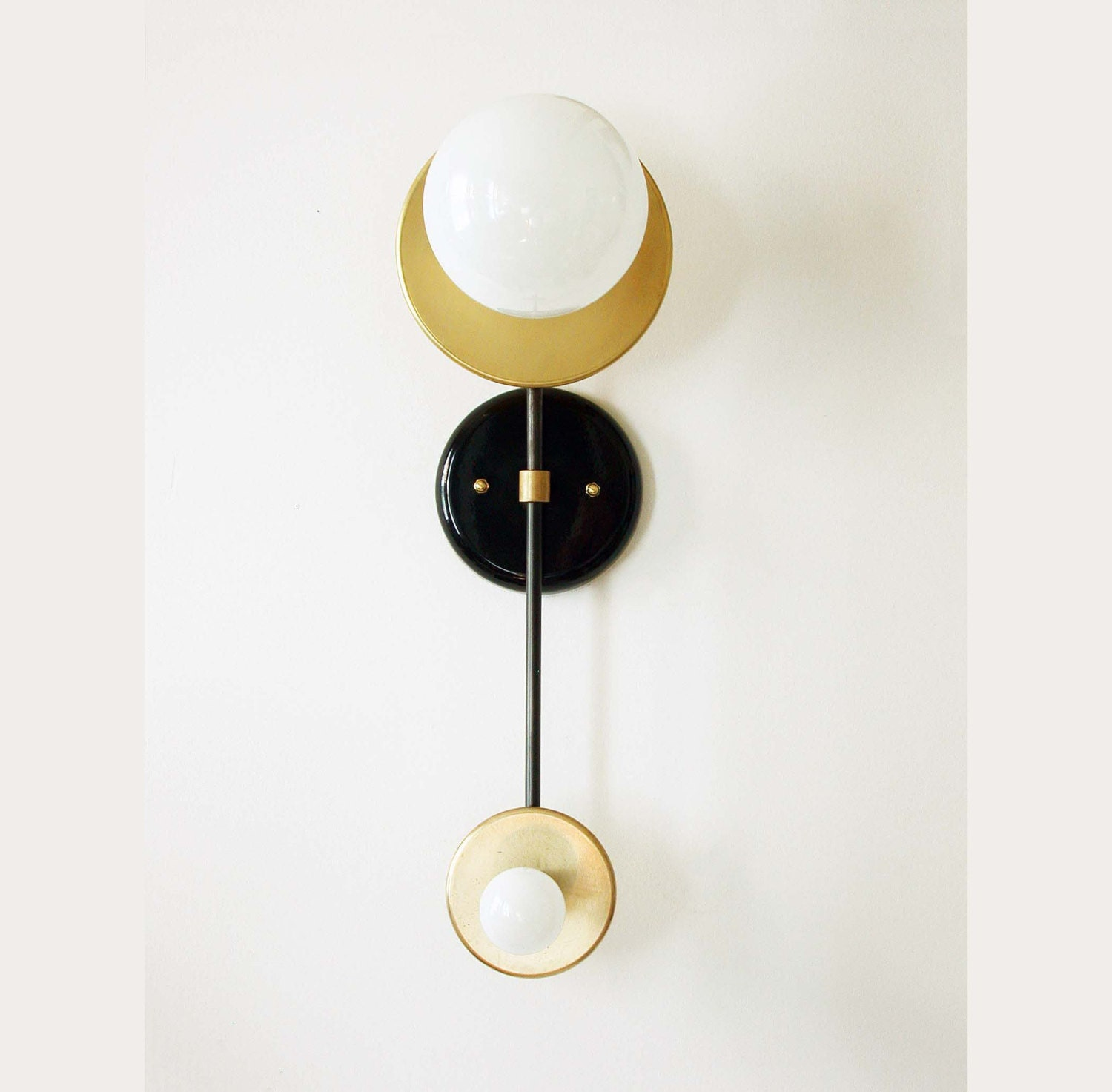 Brass Wall Sconces Lighting : Double Wall Brass Sconce Lamp Wall Light Fixture Bedroom