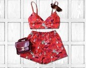 Poppies Bralet Co-ord Two Piece Set