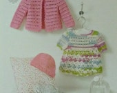 Baby Crochet Pattern C4416 Crochet Pattern Babies Dress, Hat and Cardigan DK (Light Worsted) King Cole