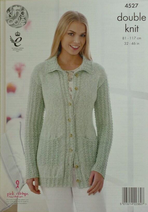 Knitting Pattern Ladies Long Coat : Womens Knitting Pattern K4527 Ladies Long Sleeve Jacket with