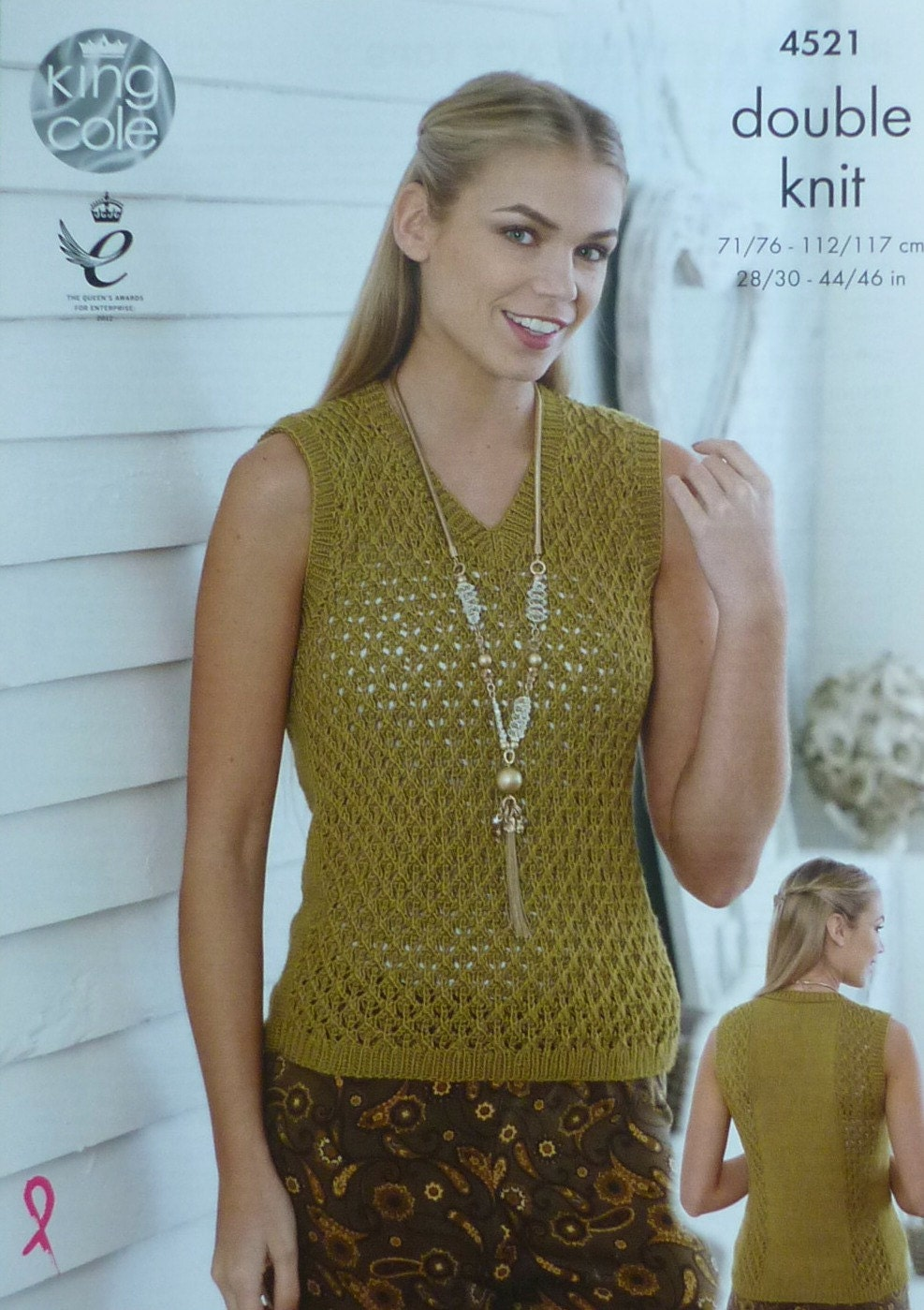 Knitting Pattern V Neck Sleeveless Jumper : Womens Knitting Pattern K4521 Ladies Sleeveless V-Neck Lacy Top/Jumper Knitti...