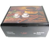 Valentine Gift !! Humidor  Cigar box w/ Artwork . Five paintings to choose