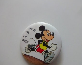 Vintage Mickey Mouse Button Pin 1987