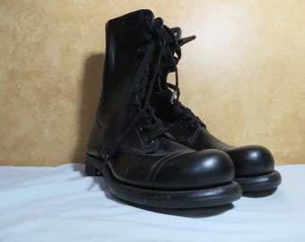 US Army Black Jump style Boots SZ 71/2 Minty not Issued 1950s to 1960 vintage
