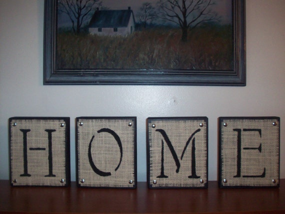 Items similar to large home wooden block letters black and for Large black wooden letters