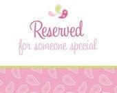Custom listing for Marsha Pierce