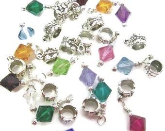 Birthstone Charms Swarovski Crystal Beads fits Pandora Bracelets & Chains