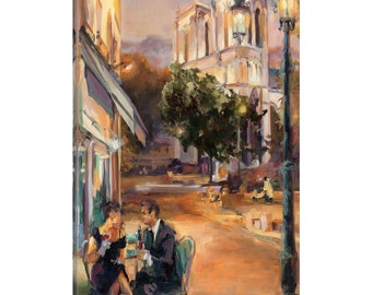iCanvas Twilight Time in Paris Gallery Wrapped Canvas Art Print by Marilyn Hageman