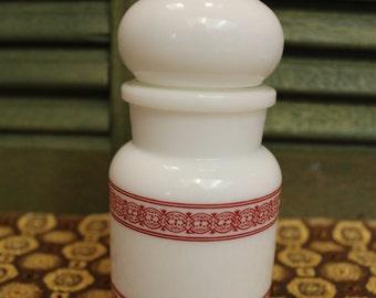 Milk Glass Apothecary Jar - Made in Belgium