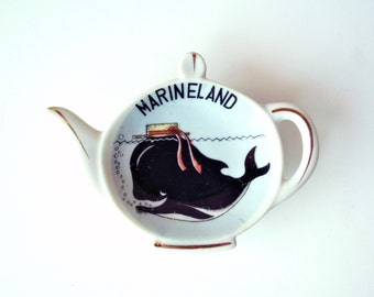 Vintage Marineland Porcelain Tea Bag Holder, Kelvin's, Japan