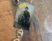 Reserved for Julie - Custom Tintype Necklace Rock & Rye Guy