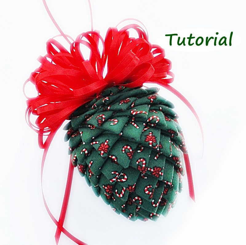Tutorial: How To Make Fabric And Ribbon Pinecone Ornaments