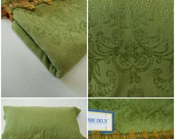 Pierre Deux-Legrand - Damask- Chenille Fabric- Tassel Trimming-  Green