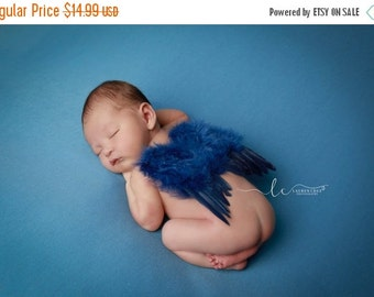 SALE 25% OFF - BOYS Blue Feather Angel Baby Wings for photo shoots for newborn babies! Photo prop, boy, Bebe, muchacho,  photographer, Lil M