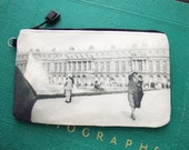 Cosmetic Bag with Vintage Photograph of the Palace at Versailles, c. 1930