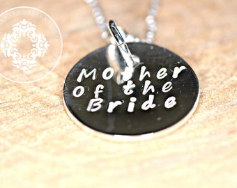 Mother of the Bride Necklace, Personalized Necklace, Keepsake,  Wedding gifts,  Mother of the Bride gift, Mother of the Groom gift