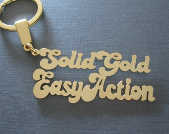 Personalized Stacked Gold Name Keychain
