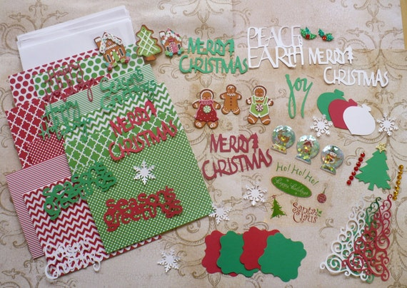 Diy Create Make Your Own Christmas Cards Die Cut Pieces