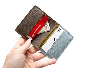 Minimalist Slim Bifold Wallet, wallet for him, wallet for her, Cards Wallet, Cards Holder, Credit Cards Wallet, Vegan.