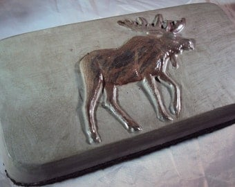 Custom Moose Doorstop Stone