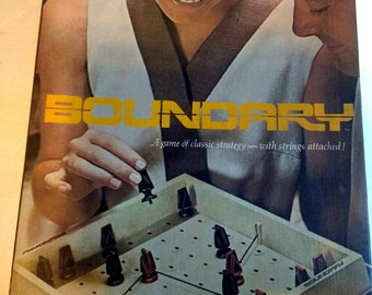 Vintage 1970 Board Game Boundary Complete Strategy Game