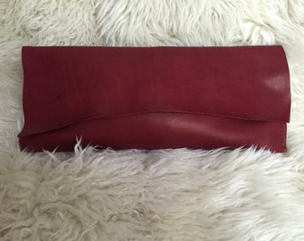 Red Horween clutch- 1532