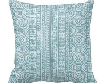 Outdoor Pillows, Outdoor Throw Pillows,Patio Decor,Blue Decorative Pillows, Patio Pillows, Tribal Pillows, Pool Pillow Covers
