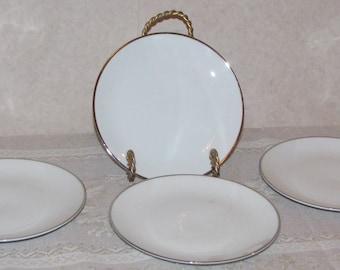 Johann Haviland Bavaria Wedding Ring Bread and Butter Plates - Set of 4