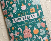 Personalised Merry Christmas Pattern Card