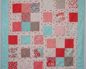 Valentine Day Quilt using Flirt fabric collection by Sandy Gervais for Moda