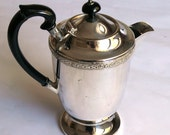 Vintage Silverplated Teapot Retro Coffee Pot,  Traditional English Pot Made in Sheffield England,  Silver Plated