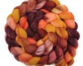 Handpainted roving - Superwash Merino Wool / Nylon  85/15% spinning fiber - 4.2 ounces - Long Weekend 1