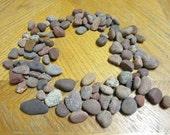 100 Beach Stones in Shades of Red Lake Michigan Mosaic Craft Supplies