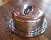 Chrome Everedy Cake Carrier Saver Twist Lock Black Top Handle 1960 USA
