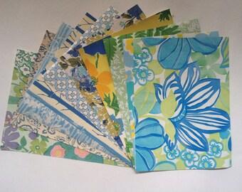 "Power Pop Blue- 1960s Vintage wallpaper sample pack (10 sheets, 8.5x11.5"")"