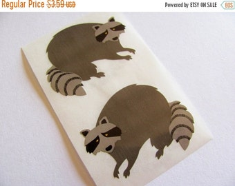 ON SALE Rare Vintage Mrs Grossman Raccoon Stickers - Two Raccoons Masked Bandit Crafty Critter Mask Scrapbook Collage