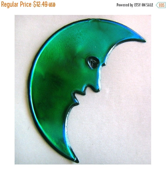 ON SALE Rare Vintage Oilie Liquid Man in the Moon Sticker - 80's Oily