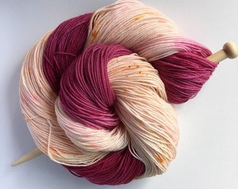 bloomed - Hand Dyed Sock Yarn - Fancy Sock  - 75/25 Superwash Merino/Nylon   {bloomed} speckled indie dyed