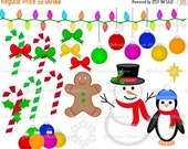 30% OFF SALE Christmas Holiday digital clip art set, graphics clipart personal and commercial use
