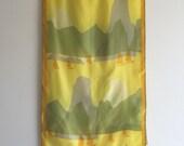 Vintage 60's Vera Neumann Silk Scarf / Yellow Sailboats