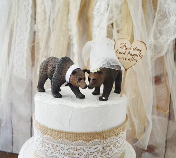 brown bear wedding cake toppers grizzly wedding cake topper brown by 12190
