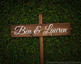 Rustic Wedding Decor, Rustic Wedding Signs, wood, names, custom