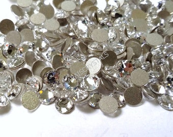 50 pcs Swarovski Flatbacks Crystal Clear 12ss (3.0 - 3.2mm) SS12 2088 Xirius Rose